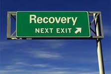 Signpost saying Recovery Here